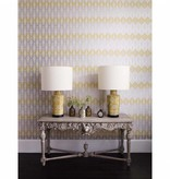 Osborne-Little Leaf Fall Met. Navy/Sapphire Wallpaper