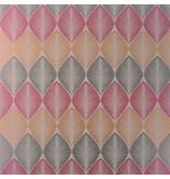 Osborne-Little Leaf Fall Met. Cranberry Wallpaper