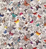 Osborne-Little Butterfly Garden Multi/Pale Linnen W6592-01 Behang