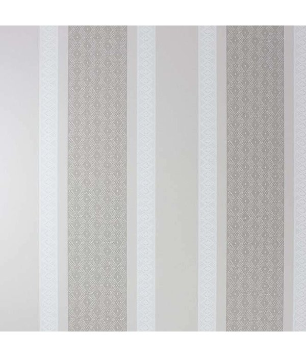 Osborne-Little Chantilly Stripe Linen/White/Pale Linen Wallpaper