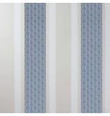 Osborne-Little Chantilly Stripe Sapphire/White/Stone W6595-04 Behang