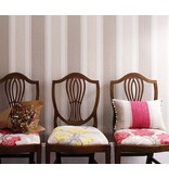 Osborne-Little Chantilly Stripe Red/White/Linen W6595-05 Behang