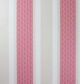 Osborne-Little Chantilly Stripe Red/White/Linen Wallpaper