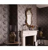 Osborne-Little Quill Black/Gilver Wallpaper