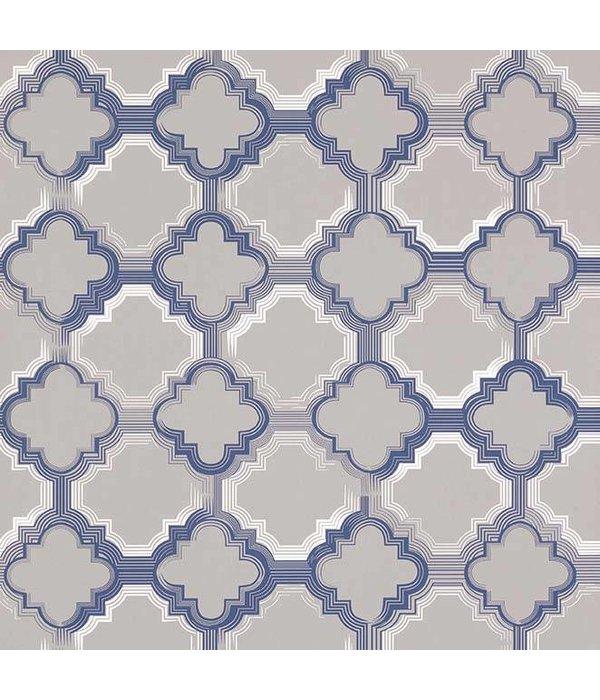 Osborne-Little Quatrefoil Sapphire W6599-01 Behang