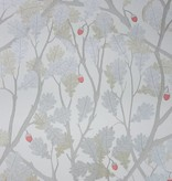 Osborne-Little Feuille de Chene Taupe Gilver Red Wallpaper