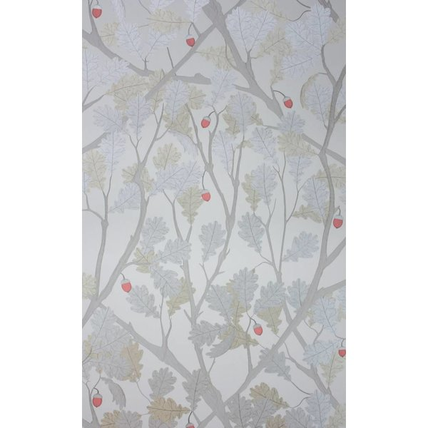 Feuille de Chene Taupe Gilver Red W6430-01