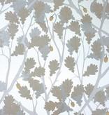 Osborne-Little Feuille de Chene Ivory Gilver Silver Wallpaper