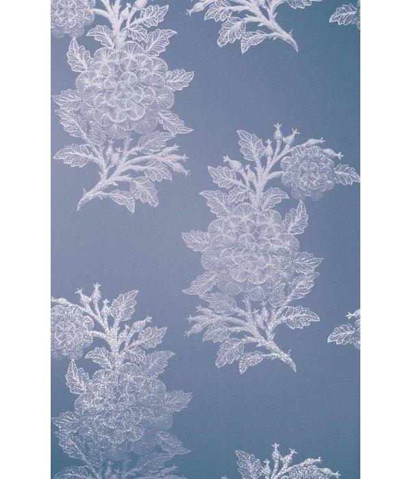 Osborne-Little Ajoure Sapphier Silver Wallpaper