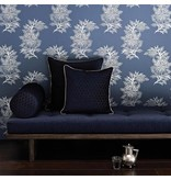 Osborne-Little Ajoure Seawater Silver Wallpaper