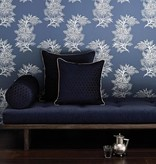 Osborne-Little Ajoure Stone Silver Wallpaper