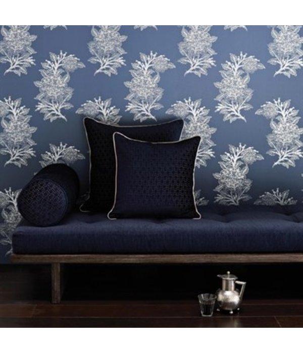 Osborne-Little Ajoure Cranberry / Pale Gilver Wallpaper