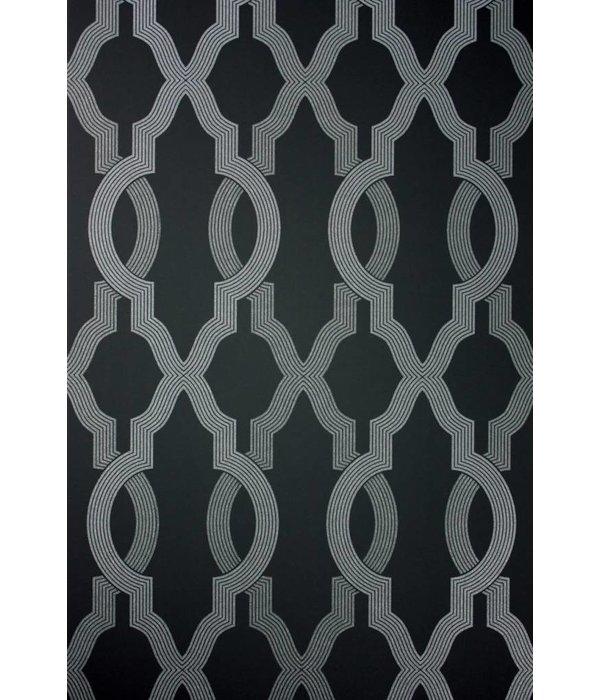 Osborne-Little Cannetille Black Silver W6434-03 Behang