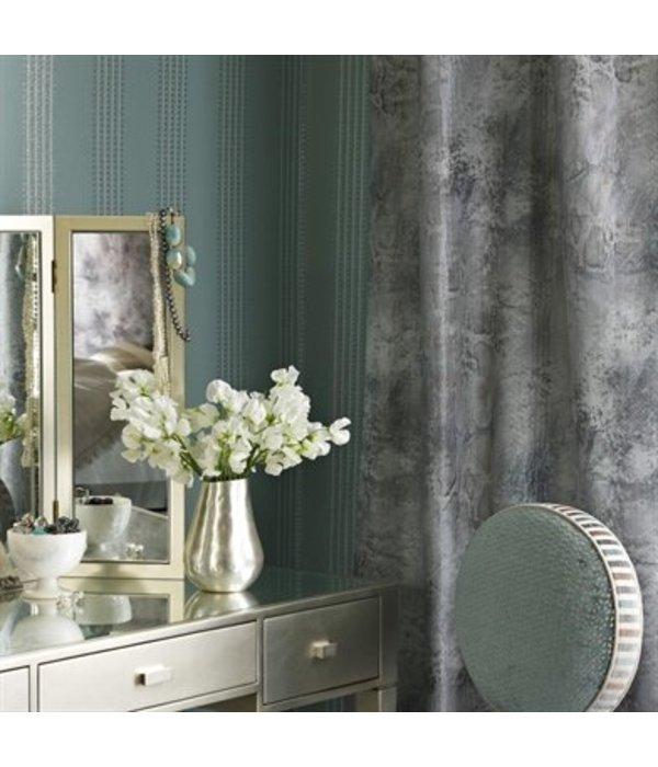 Osborne-Little Paillons Black Silver Wallpaper