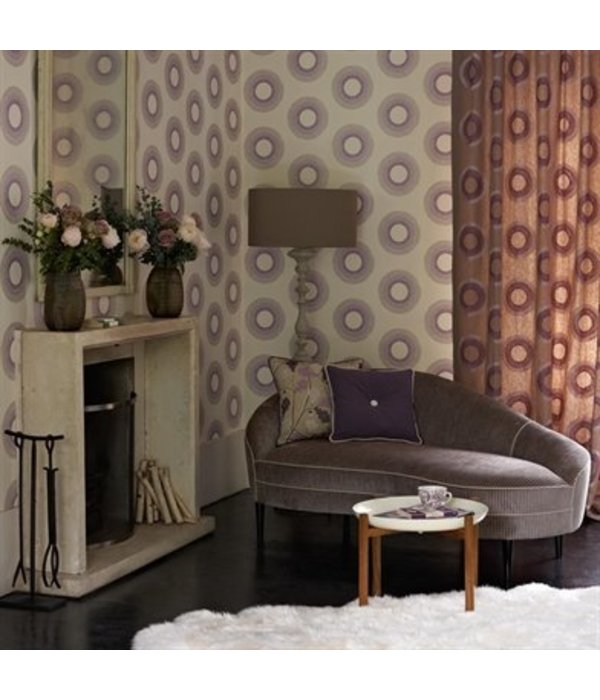 Osborne-Little Parure Ivory Fuchsia Purple W6436-04 Behang
