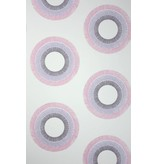 Osborne-Little Parure Ivory Fuchsia Purple Wallpaper