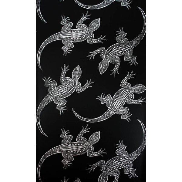 Komodo Zwart Met Glimmend Zilver W6300-02