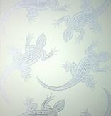 Osborne-Little Komodo Gebroken Met Glimmend Zilver W6300-04 Behang