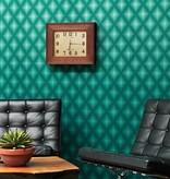 Osborne-Little Chameleon Turquoise Met Zwart W6305-01 Behang