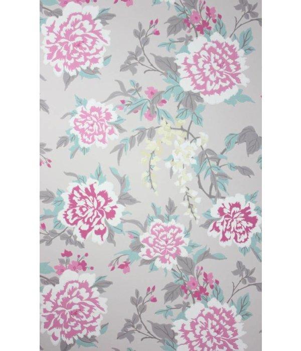 Osborne-Little PERSIAN GARDEN Hot Pink Green W6492-05 Behang