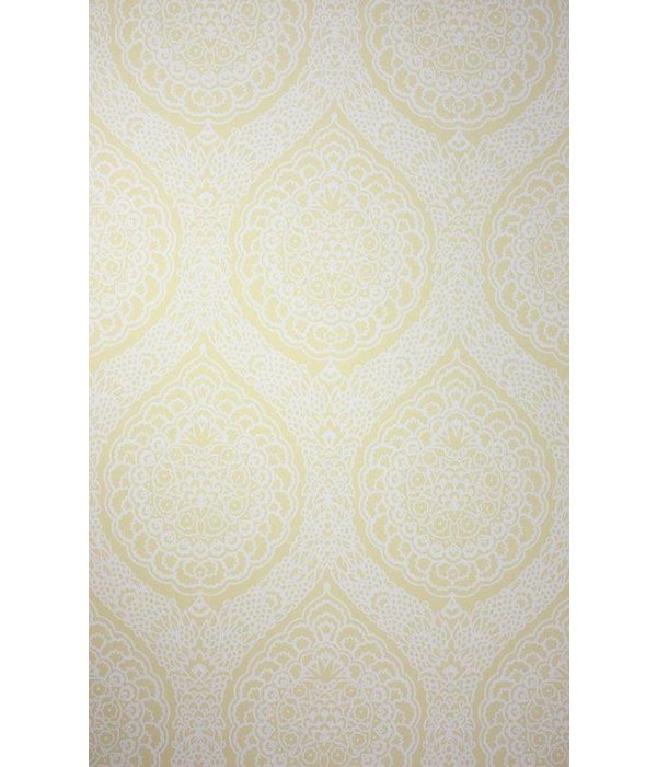 Osborne-Little ROSALIA DAMASK Light Yellow Wallpaper