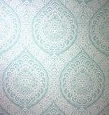 Osborne-Little ROSALIA DAMASK Pale Turquoise Wallpaper