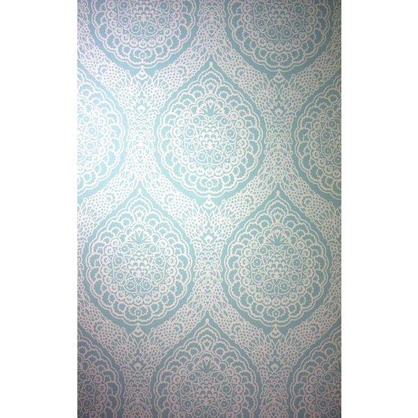 ROSALIA DAMASK Pale Turquoise