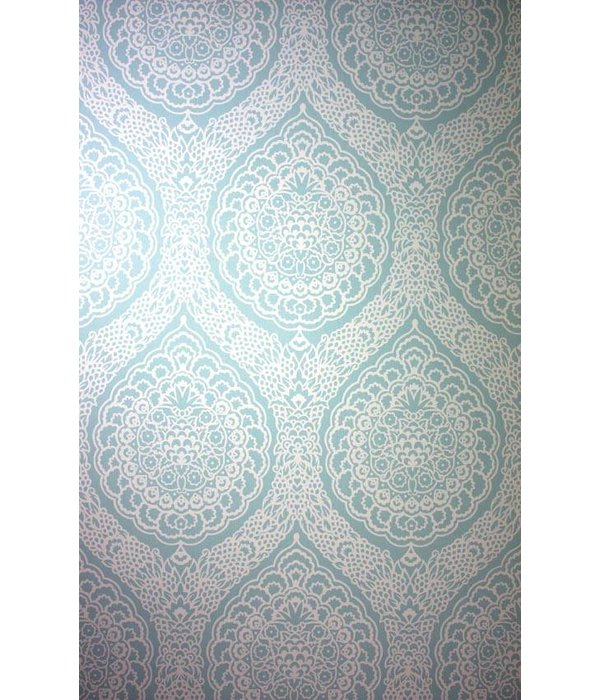 Osborne-Little ROSALIA DAMASK Pale Turquoise W6493-03 Behang