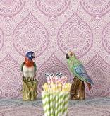 Osborne-Little ROSALIA DAMASK Antique White Wallpaper