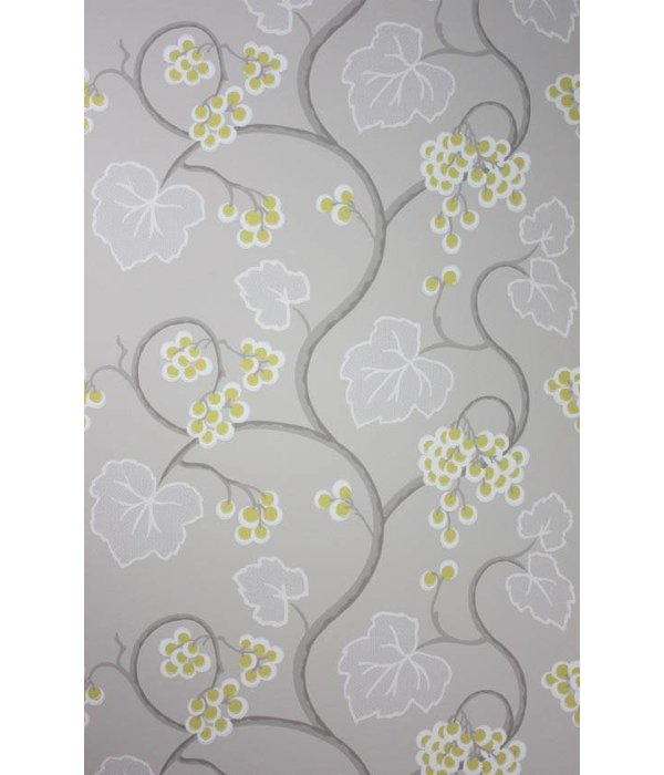 Osborne-Little SHIRAZ Gold Gray Wallpaper