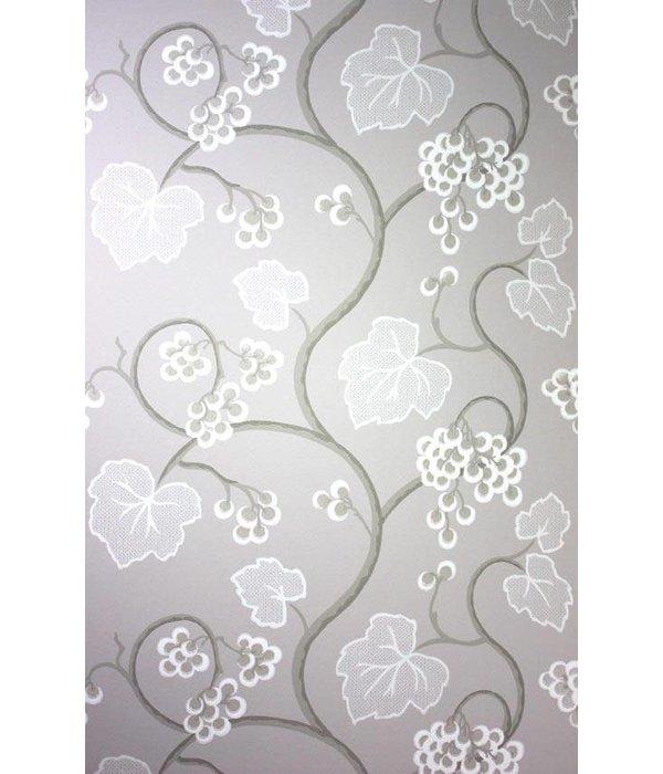 Osborne-Little SHIRAZ White Gray Wallpaper