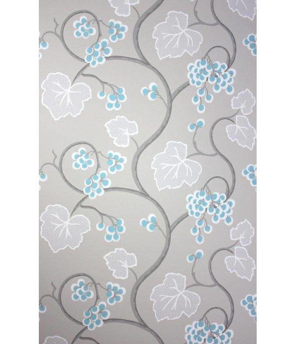 Osborne-Little SHIRAZ Light Sky Blue Wallpaper