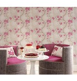 Osborne-Little SHIRAZ Violet Red Gray Wallpaper
