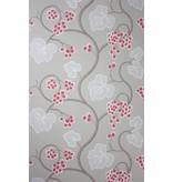 Osborne-Little SHIRAZ Red White Gray Wallpaper