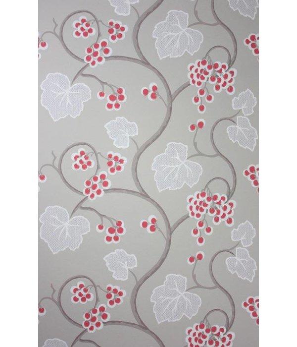 Osborne-Little SHIRAZ Red White Gray W6494-07 Behang