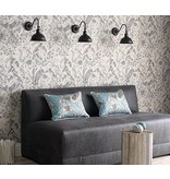 Osborne-Little KAYYAM Slate Gray Wallpaper