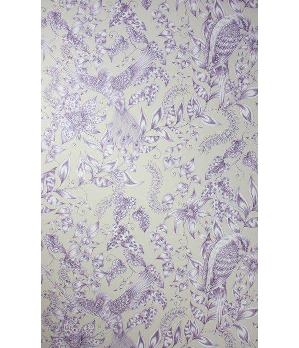 Osborne-Little KAYYAM Dark Purple Snow W6495-06 Behang