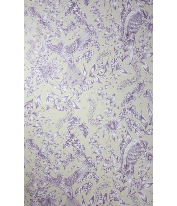 Osborne-Little KAYYAM Dark Purple Snow Wallpaper