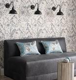 Osborne-Little KAYYAM Dim Gray Deep Blue Wallpaper