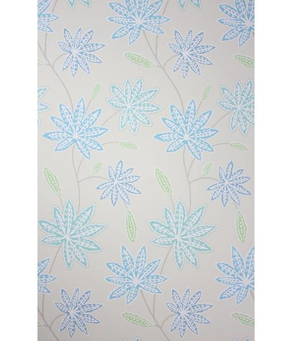 Osborne-Little CHENAR Sky Blue Gray W6497-04 Behang