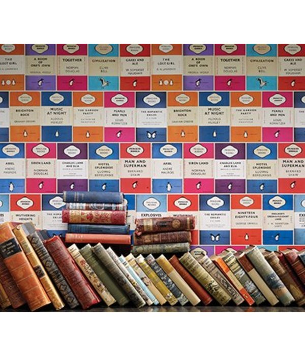 Osborne-Little PENGUIN LIBRARY Multicolor Wallpaper