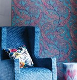 Osborne-Little PATARA Sky Blue Dark Violet Wallpaper