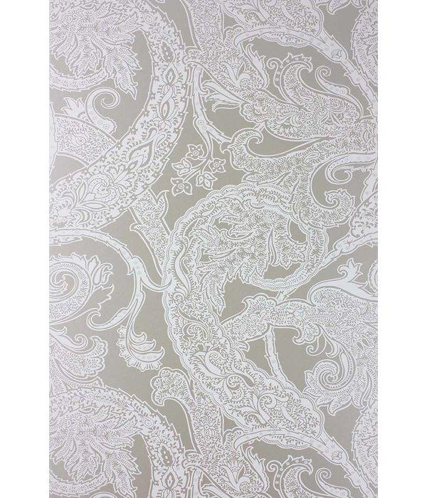 Osborne-Little PATARA White Gray Wallpaper