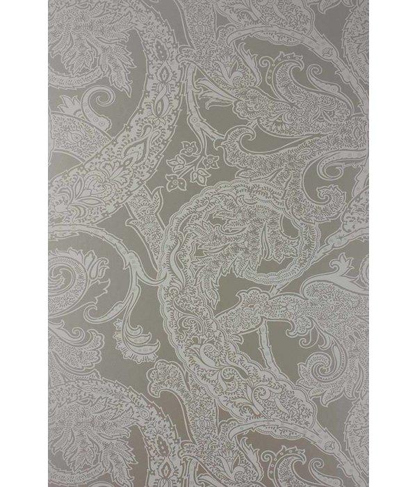 Osborne-Little PATARA White Dark Gray Wallpaper