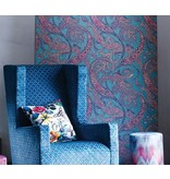Osborne-Little PATARA Black Blue Red Wallpaper