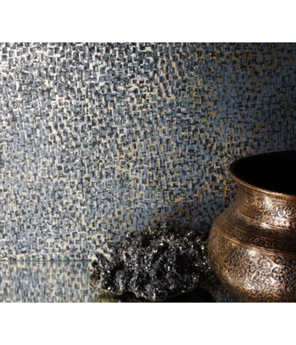 Osborne-Little TESSERAE Blue Silver Wallpaper