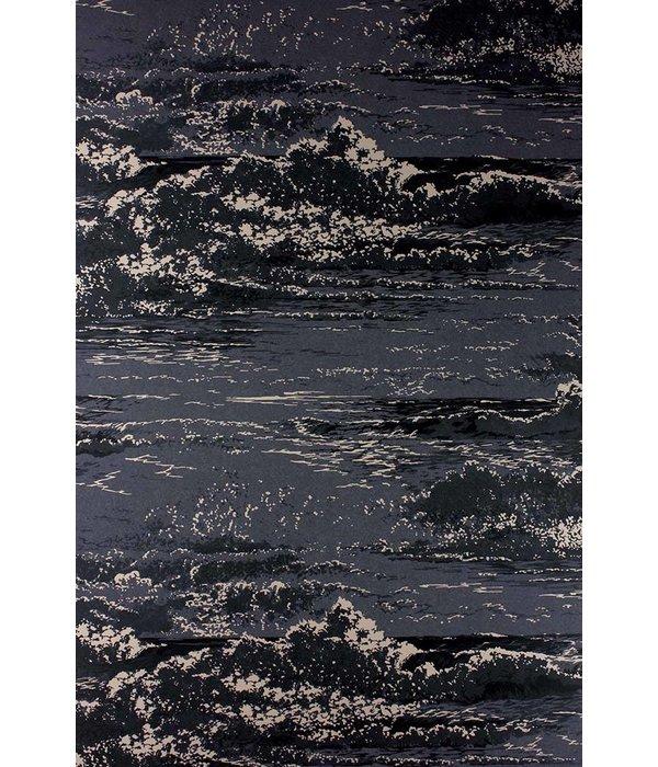 Osborne-Little MARMARA Black Dark Gray Wallpaper