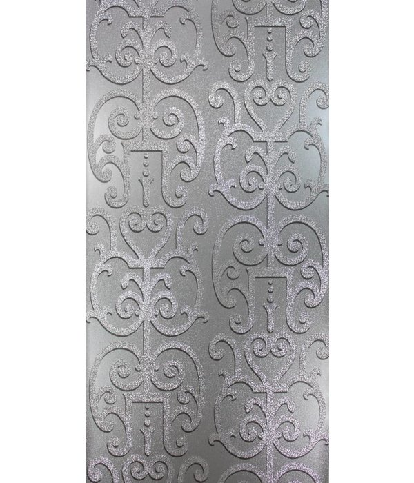 Osborne-Little Colleoni Silver-Holographic Wallpaper