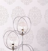 Osborne-Little Zecca Aqua-Silver Wallpaper