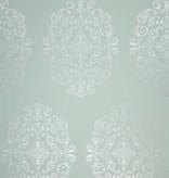 Osborne-Little Zecca Aqua-Silver W6180-03 Behang
